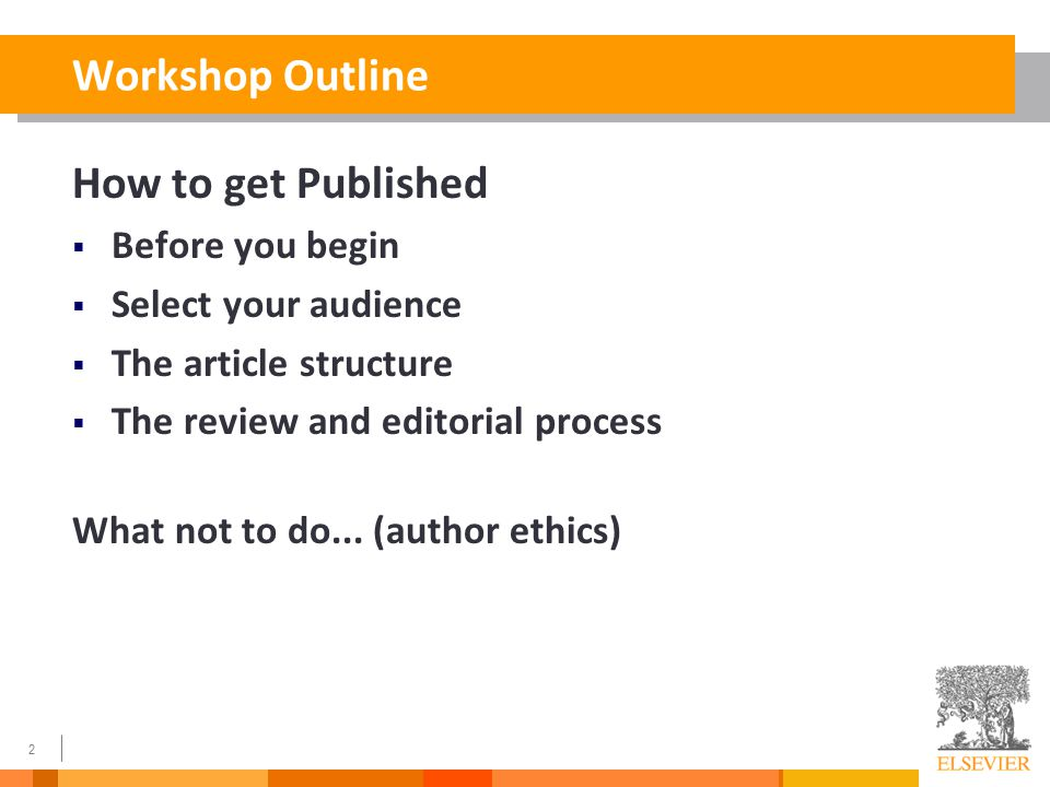 How to write a journal paper