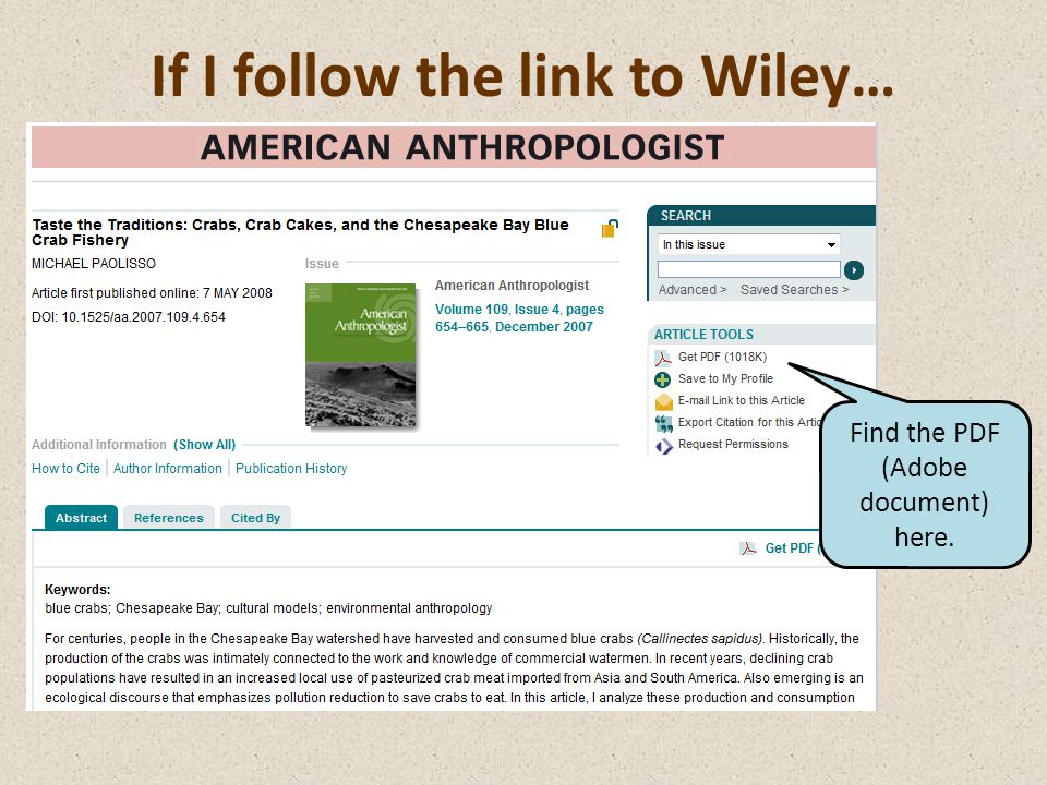 If I follow the link to Wiley… Find the PDF (Adobe document) here.