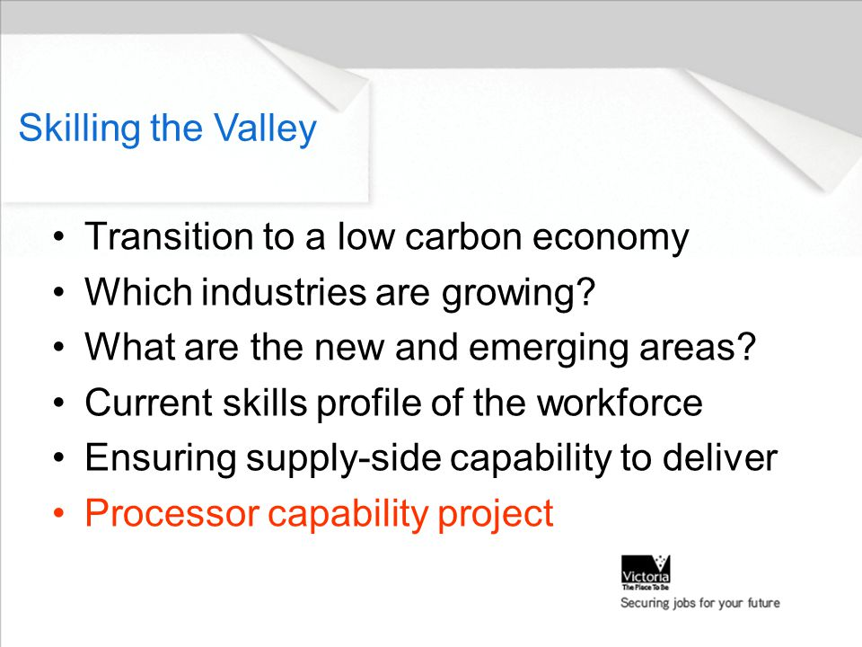 Transition to a low carbon economy Which industries are growing.