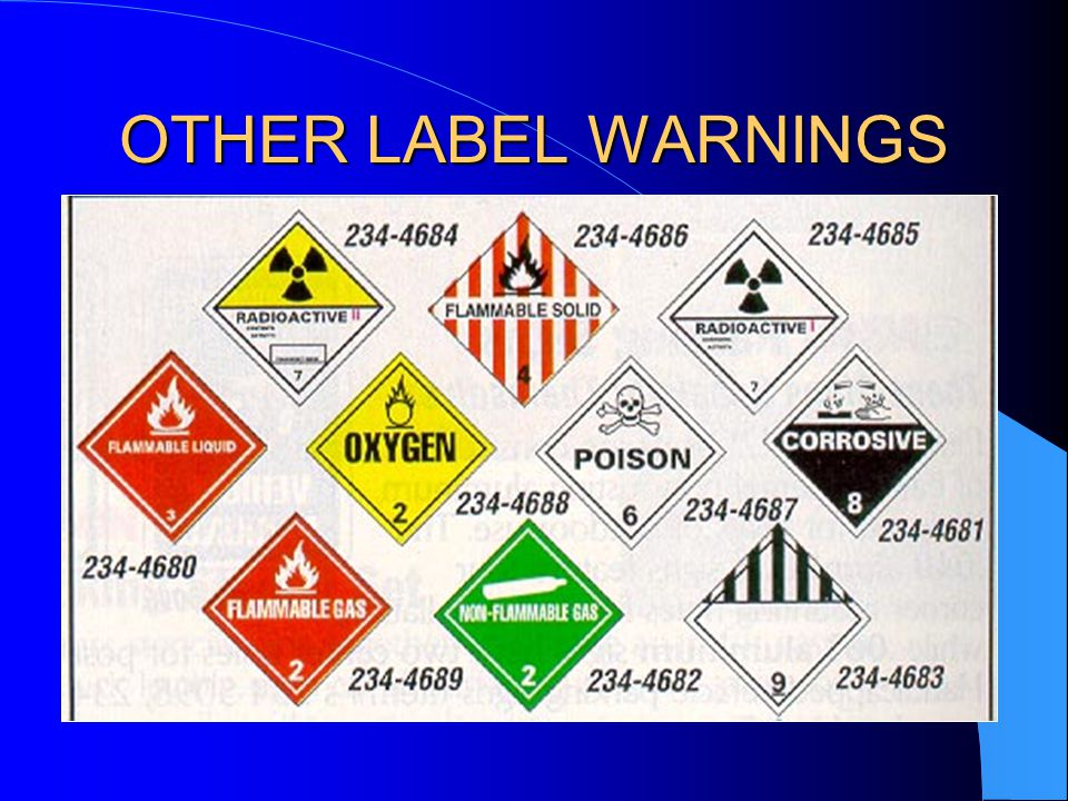 OTHER LABEL WARNINGS