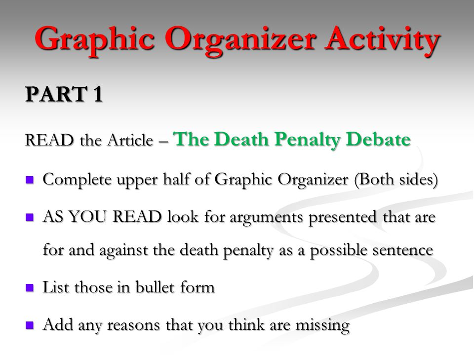 argumentative essay death penalty children This sample persuasive essay on death penalty provides a thesis/claim that establishes a purpose and will be followed by points and particulars that prove the that are heavily influenced by research and outside sources.