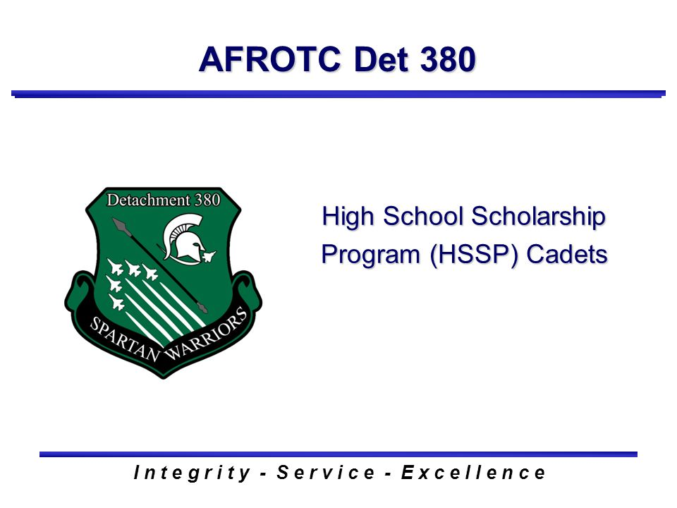 New Student Orientation Welcome to AFROTC Det 380 I ...
