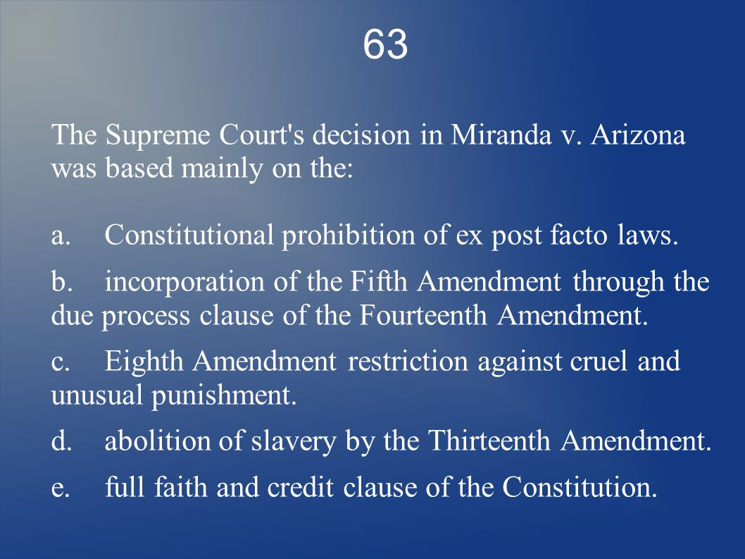 qotd examining the ldquo best answer rdquo the franking privilege is one 63 the supreme court s decision in m da v