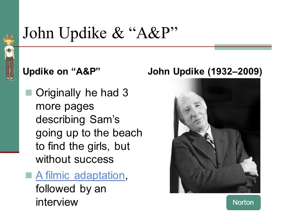 Can someone help with me an analytical essay on a&p by john updike?