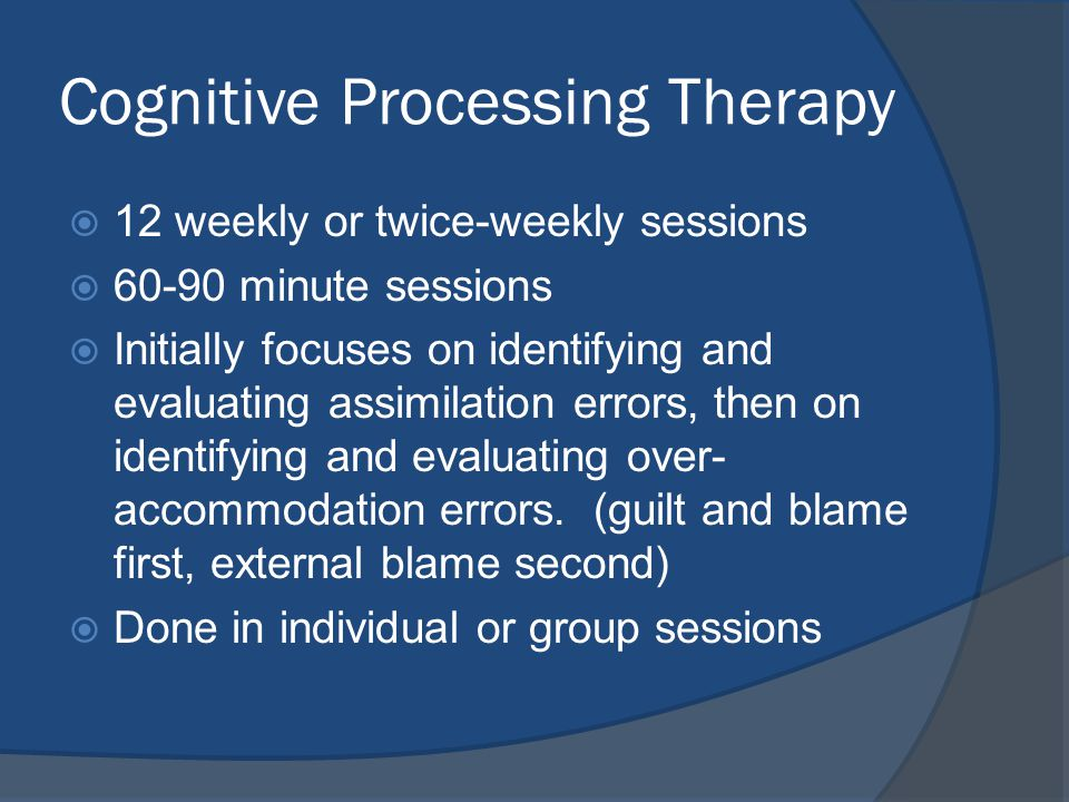 Image result for Cognitive Processing Therapy