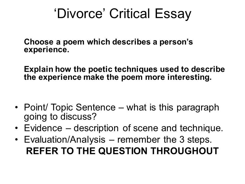 Critical Essay - Poetic Techniques help (10 points)?