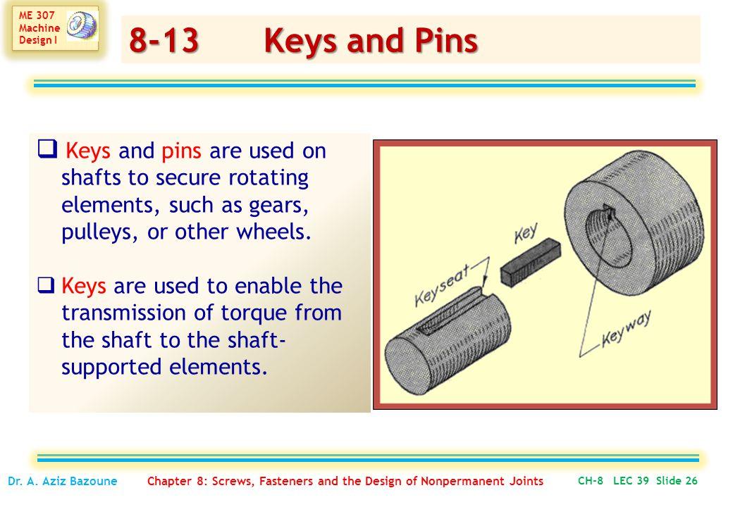 ME 307 Machine Design I ME 307 Machine Design I CH-8 LEC 39 Slide 26 Dr.