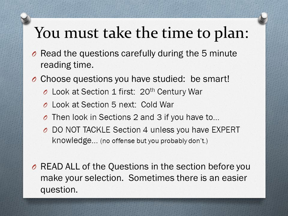 th century world history ppt video online   the questions carefully during the 5 minute reading time choose questions you have studied be smart look at section 1 first 20th century war look
