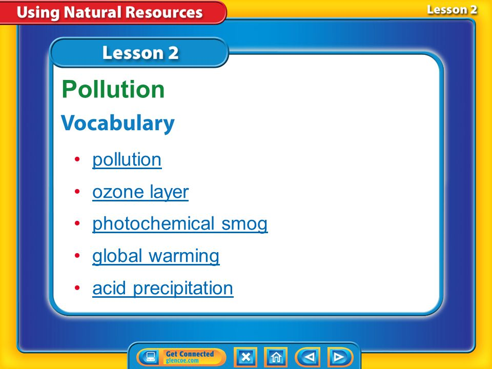 Lesson 2 Reading Guide - KC How does pollution affect air resources.