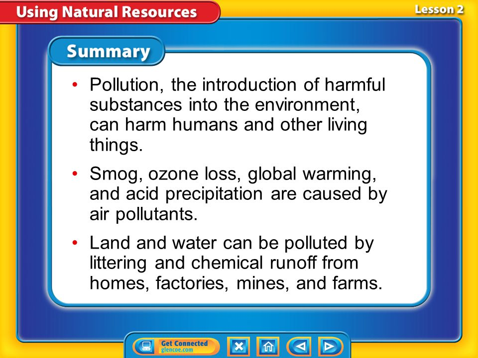Lesson 2-4 How does pollution affect land resources Land Pollution (cont.)