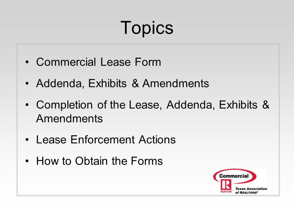 Commercial Webinar Series  Hour Presentation Tar Commercial Leasing