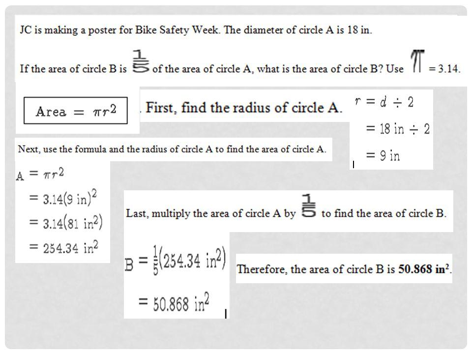 10 – 6E CIRCLES. Important formulas when dealing with circles ...