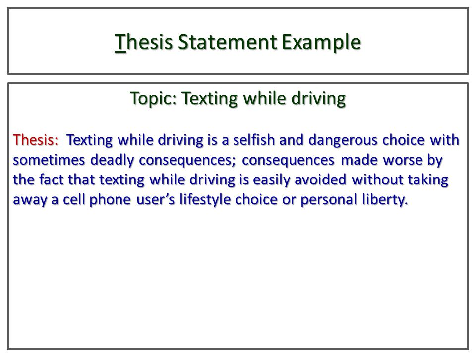Thesis Essay Example Texting While Driving Speech Essays Health And Wellness Essay also College English Essay Topics Dissertation Experts  Free Dissertation Writing Service Essay On  Sample Argumentative Essay High School