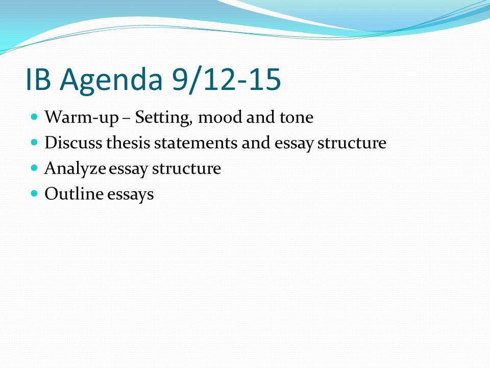 tone essay structure