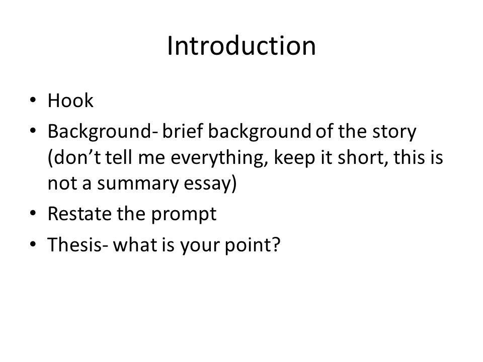 How to write a (hooking?) introduction to an analytical essay?