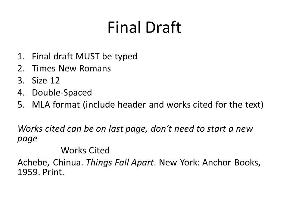 process essay mla format
