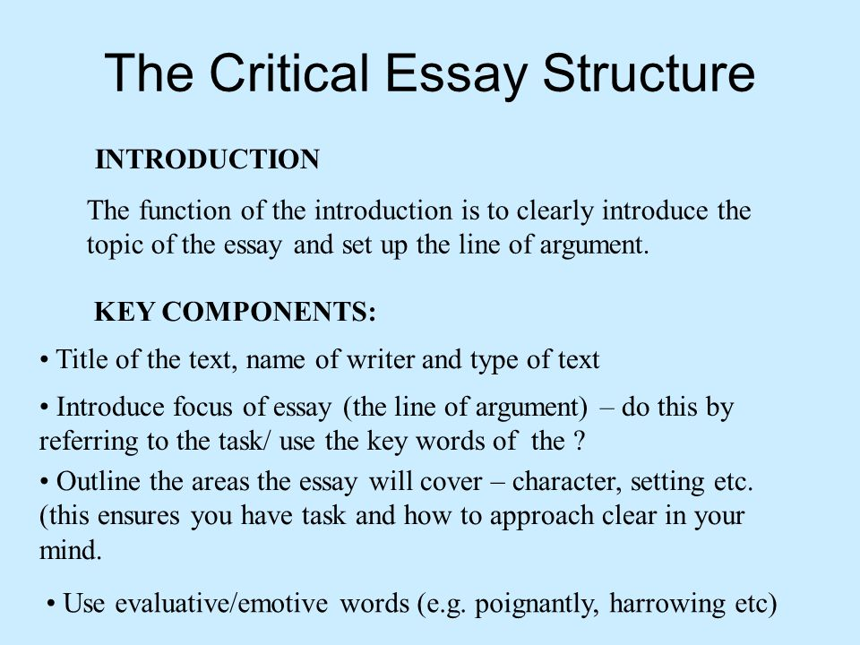 higher english critical essay timing