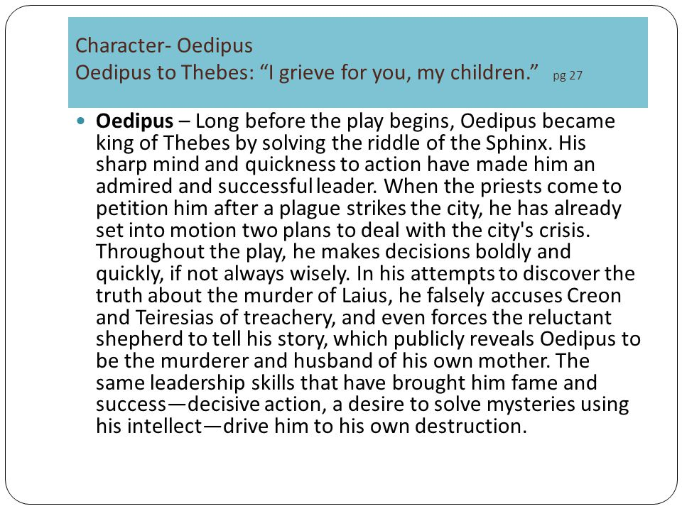 an analysis of dramatic irony in oedipus the king by sophocles