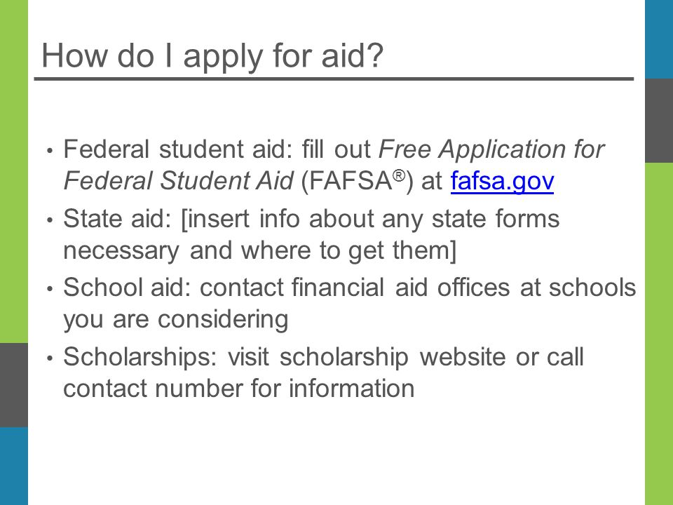 How do I apply for aid.