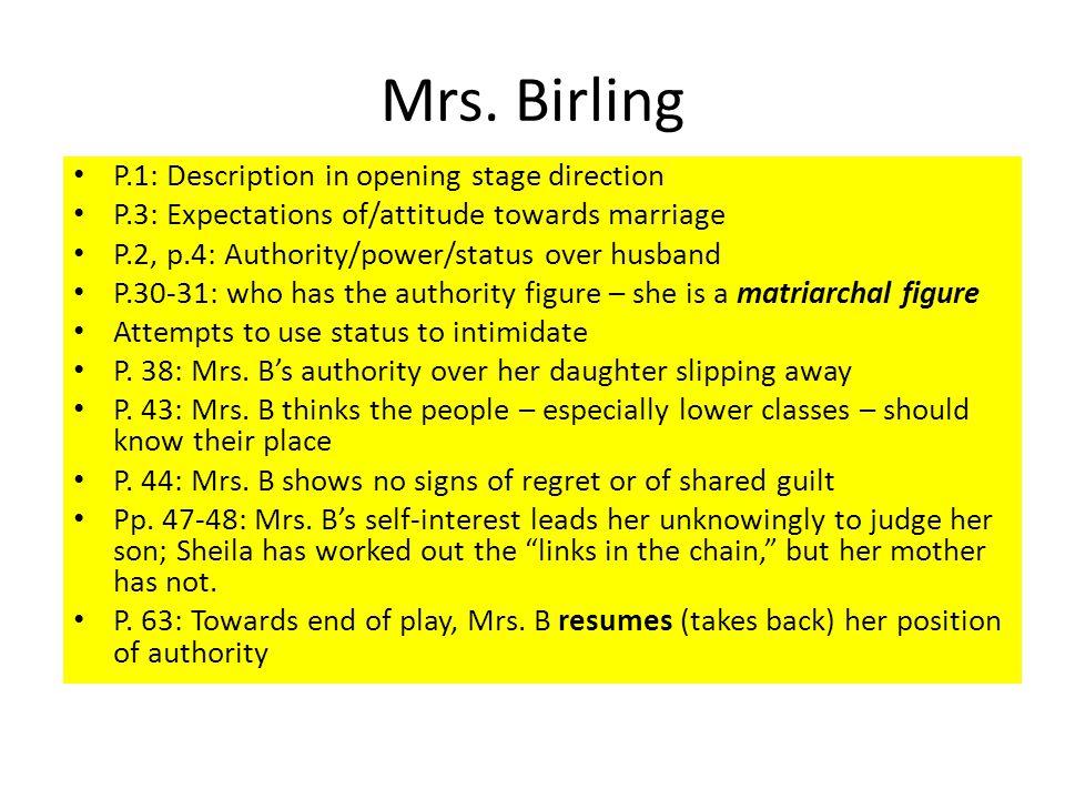 Mrs birling an inspector calls essay