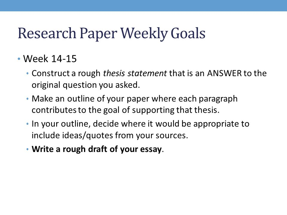 construct good research paper