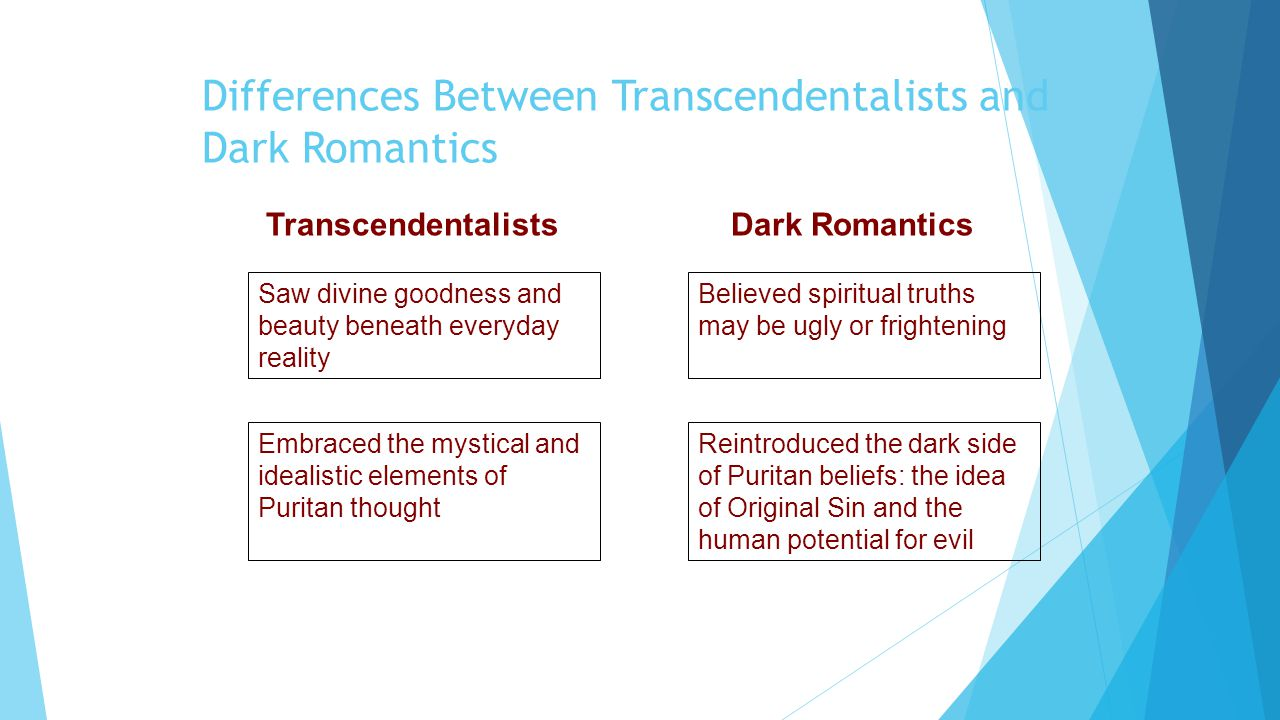 Transcendentalism resembles romanticism in its emphasis on the presance of god in nature?