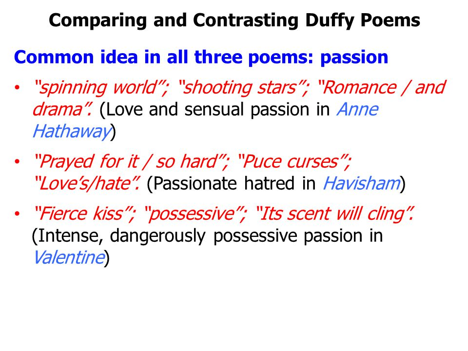 comparative essay poems