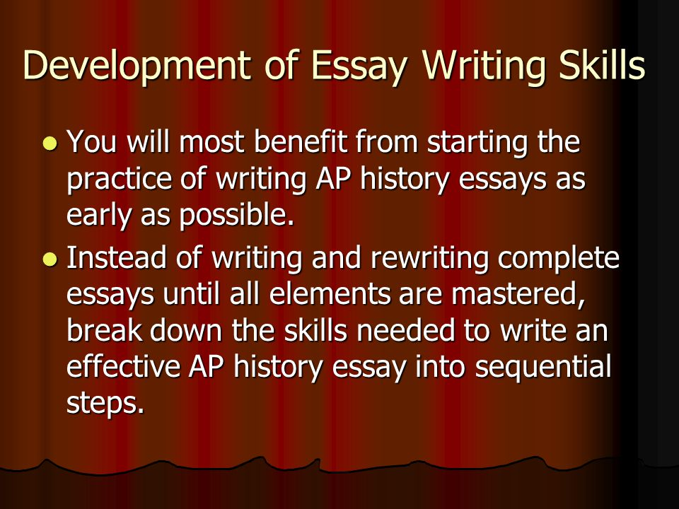 Starting a history essay
