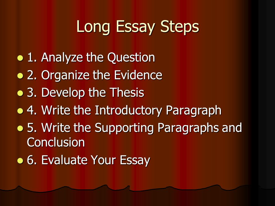 writing my admission essay english Developing a Thesis Statement PowerPoint