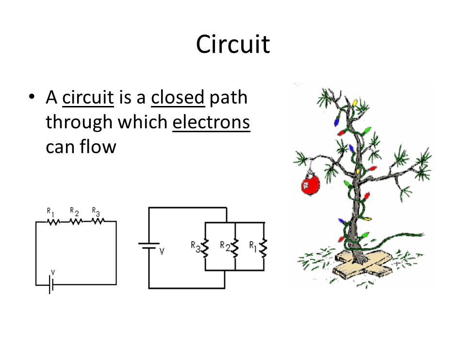 Circuit A circuit is a closed path through which electrons can flow