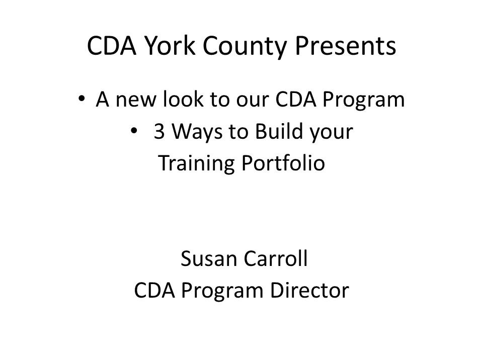 cda biography The biography is the first page readers of your e-portfolio will see, so it should look professional and present you in the best possible light.