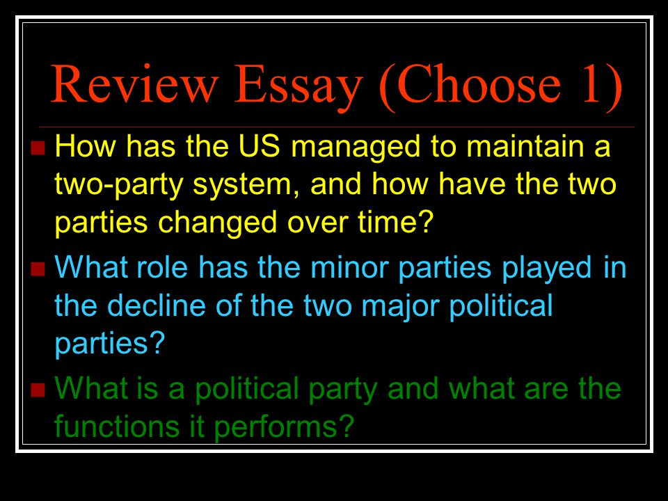 political parties essays