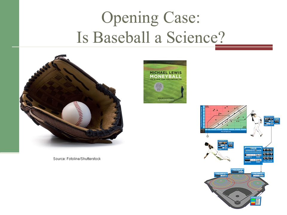 Opening Case: Is Baseball a Science Source: Fotoline/Shutterstock