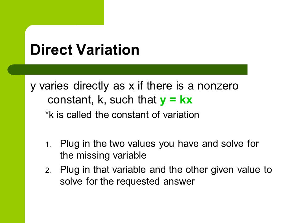 Lesson 84 Direct Joint and Inverse Variation ppt download – Direct and Indirect Variation Worksheet