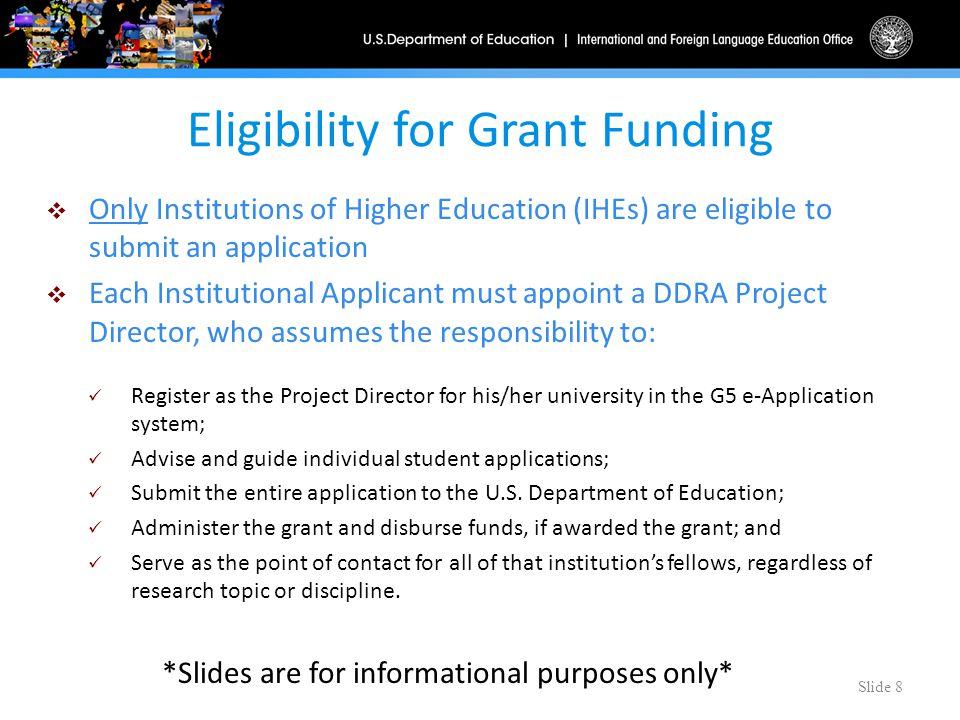 Doctoral dissertation grants higher education