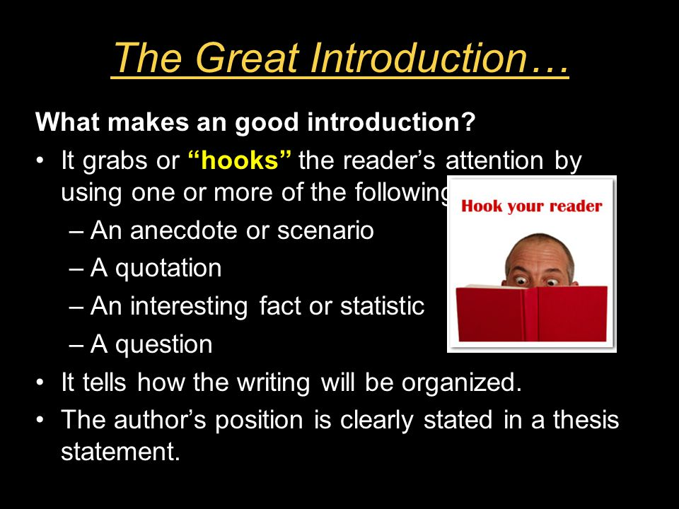What is a good introduction?