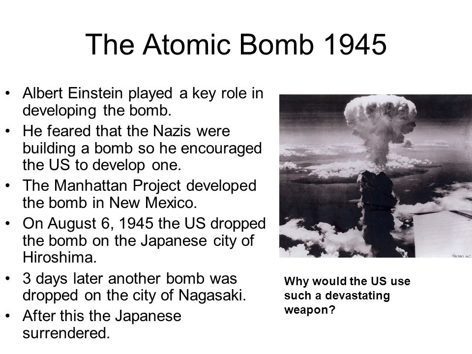 albert einstein and the atomic bomb essay