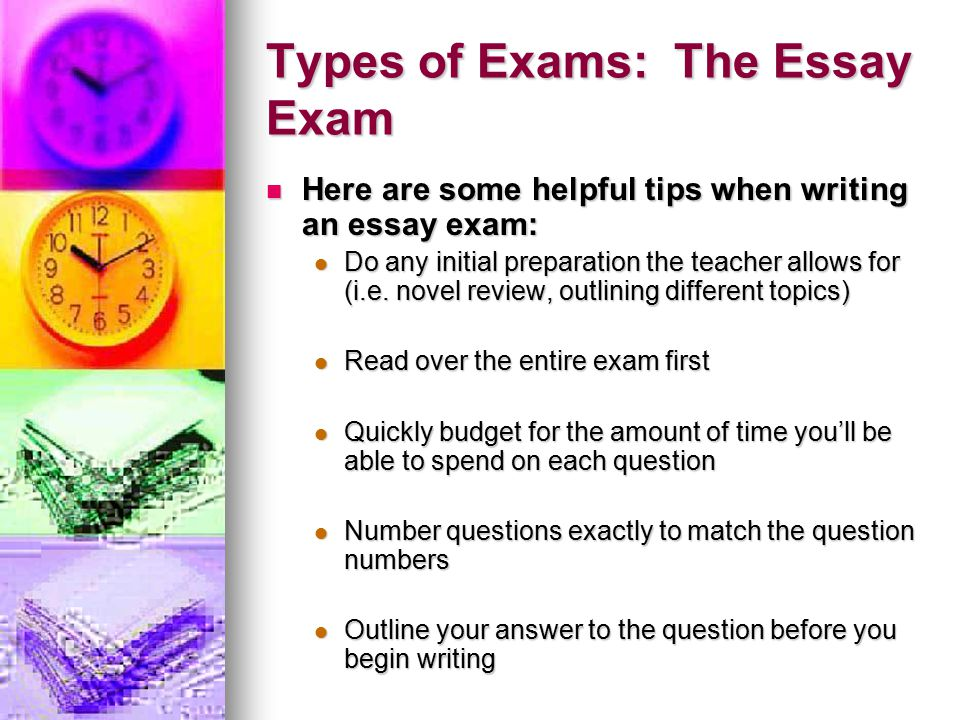 Tips for writing essays during Exam?