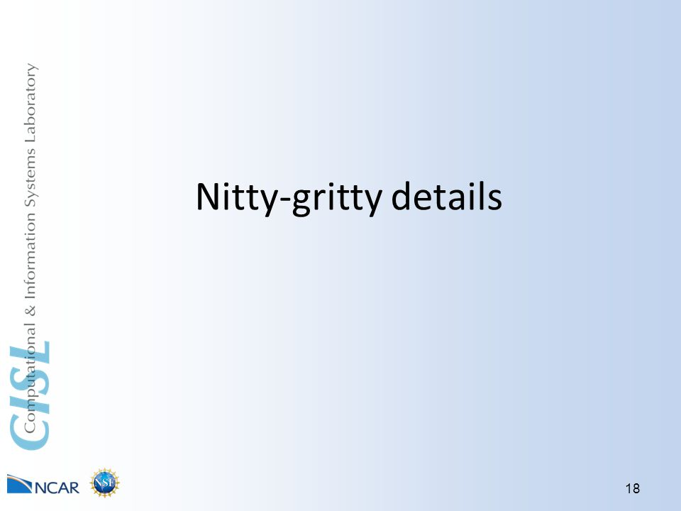 Nitty-gritty details 18