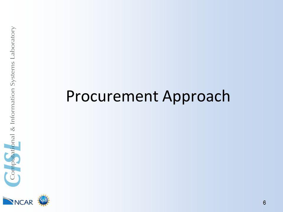 Procurement Approach 6