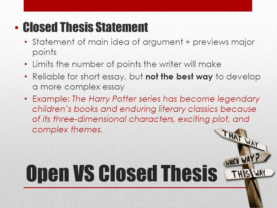 best way to develop a thesis statement