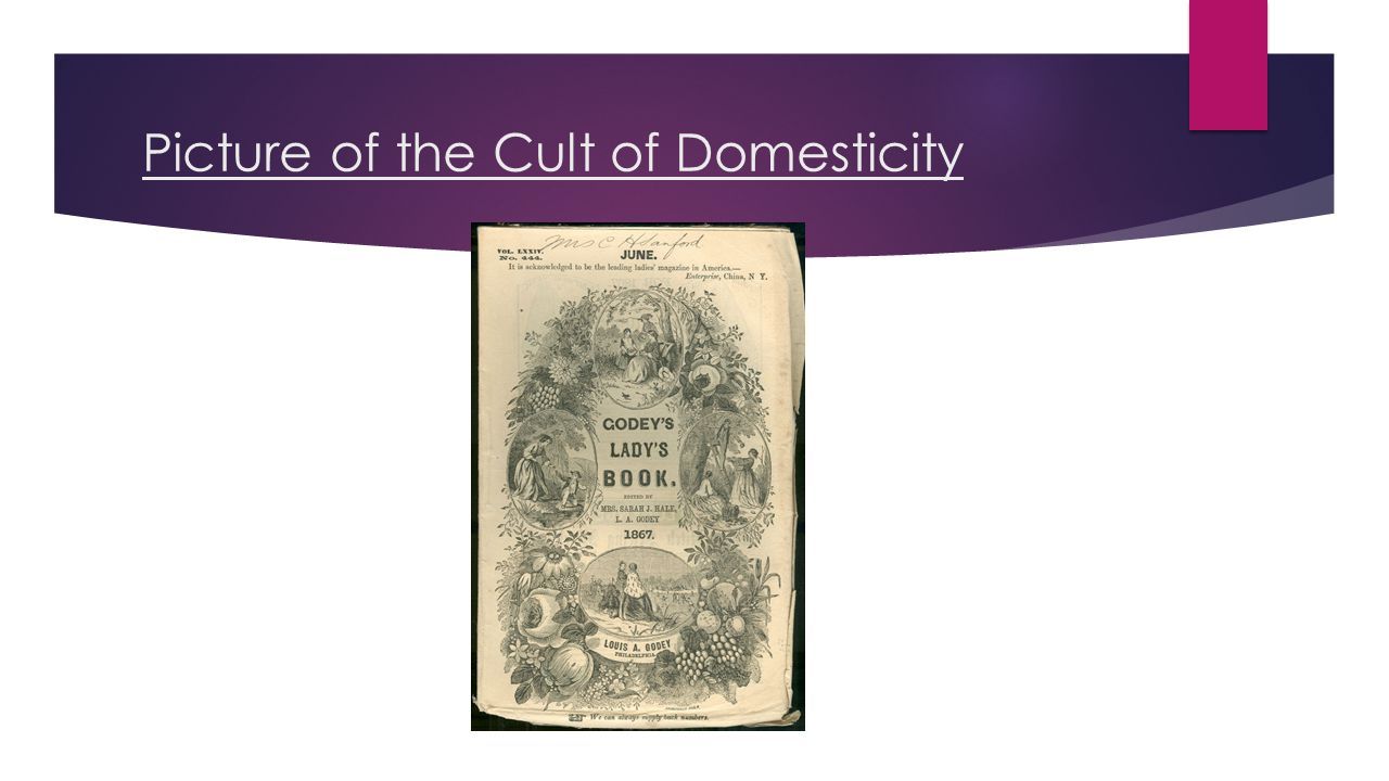 Picture of the Cult of Domesticity