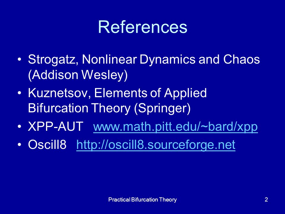 "Presentation ""Practical Bifurcation Theory1 John J. Tyson Virginia ..."