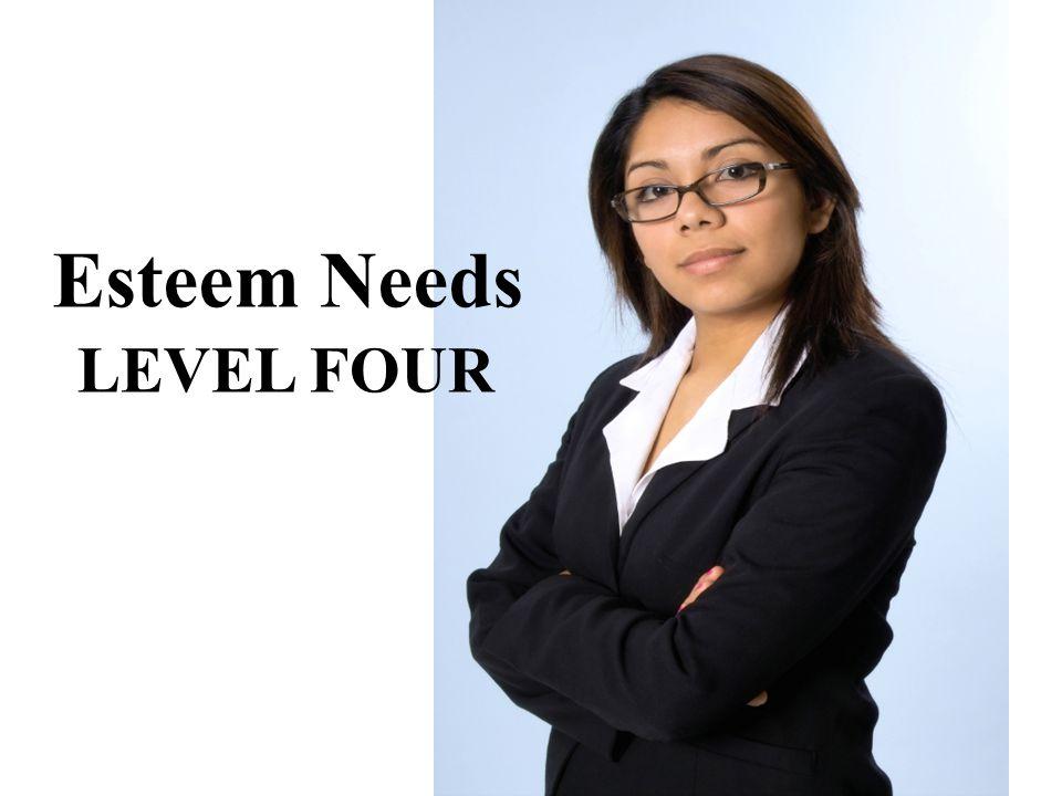Esteem Needs LEVEL FOUR