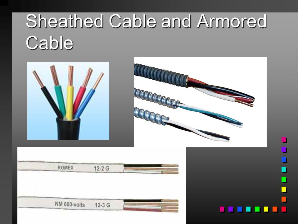 Sheathed Cable and Armored Cable