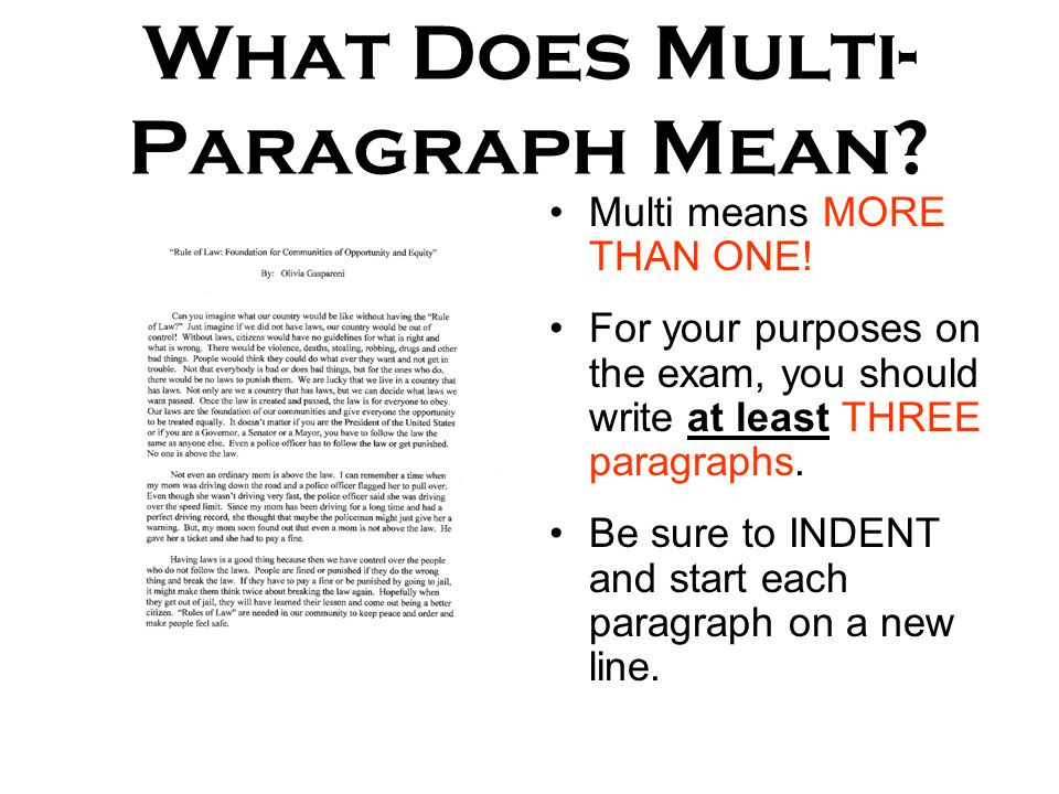 Do i indent paragraphs in an essay