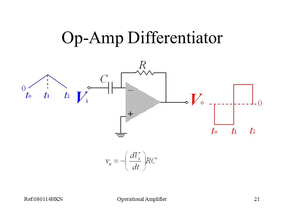 Ref:080114HKNOperational Amplifier21 Op-Amp Differentiator