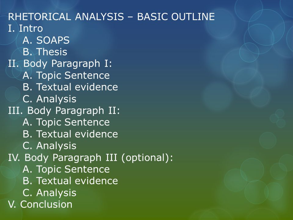 Tips For Ap Rhetorical Analysis Essay