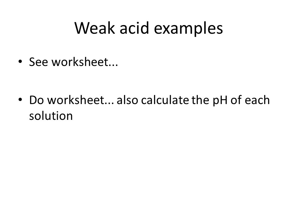 Acids and Bases Chapter 16 PreChapter Questions 1What is meant – Ph Calculations Worksheet