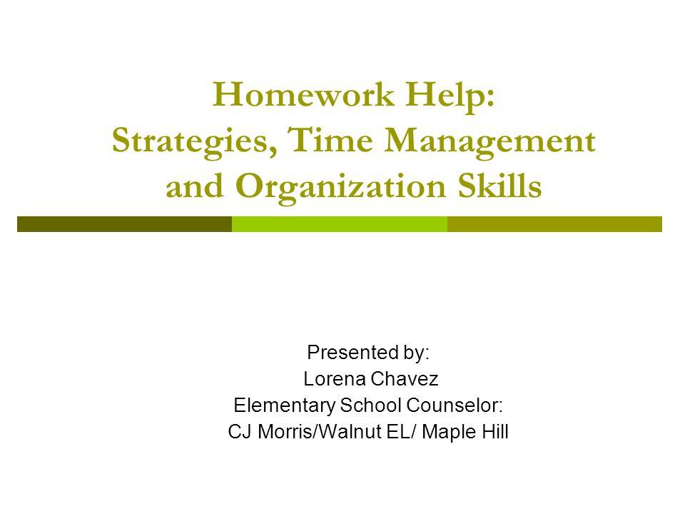 Homework helps time management